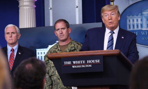 Trump and coronavirus task force hold briefing at White House